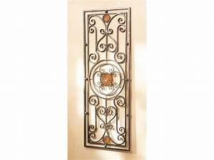 Grille Metal Decorative : wall grill decorative metal wrought iron medallion ~ Melissatoandfro.com Idées de Décoration