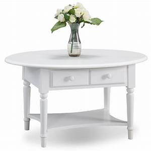 leick orchid white coastal oval coffee table w shelf With white coastal coffee table