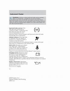 2009 Ford Fusion Owners Manual