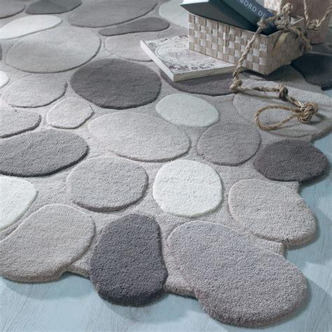 pebble carpet pebble rug in gray maisons du monde
