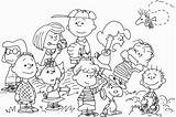 Coloring Peanuts Pages Thanksgiving Characters Peanut Template Comments Coloringhome sketch template