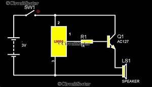 Simple Music Bell Circuit Diagram