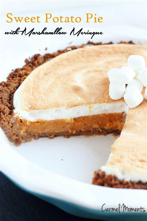 sweet potato pie with graham cracker crust recipe sweet potato pie with marshmallow meringue
