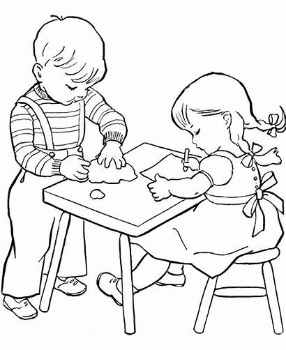 Coloring Child Working