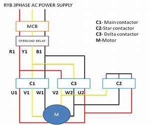 Single Phase Motor Wiring Diagram Star Delta