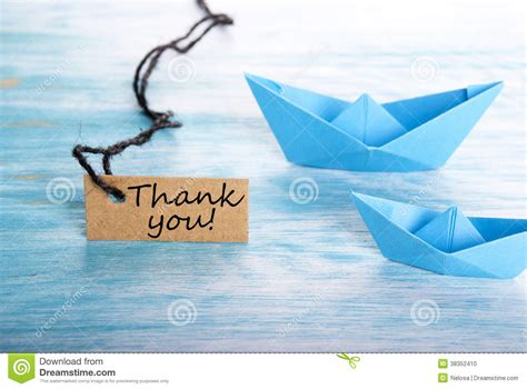 Boat Tags by Thank You On A Tag Stock Photo Image 38352410