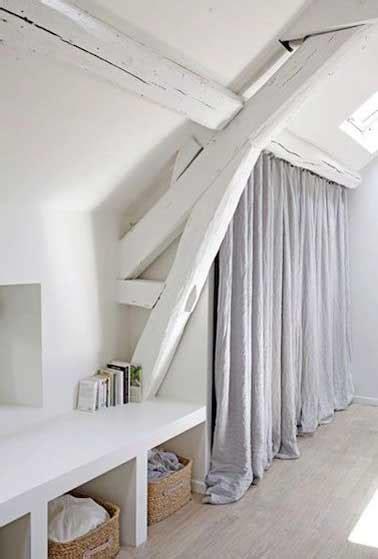 rideau de sous pente dressing sous pente sans souci pour sa d 233 co chambre