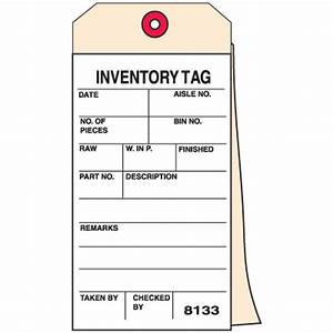 2 part carbonless inventory tag inventory tag seton With inventory reorder tags