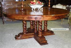 Dining Table: Antique Round Dining Table 72