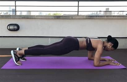 Knee Tap Plank Exercise Elbow Taps Alternating