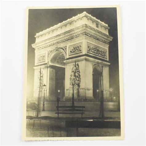 silver gelatin print black  white photograph arc de