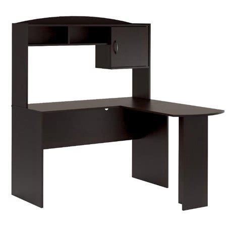 desk l walmart mainstays l shaped desk in espresso color walmart