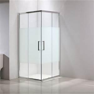 porte de douche coulissante angle carre l80 x l80 cm With porte douche 78 cm