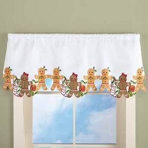 Christmas Gingerbread Curtain Valance From Collections Etc
