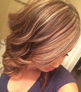 Long Medium Length Brown Hair With Blonde Highlights To