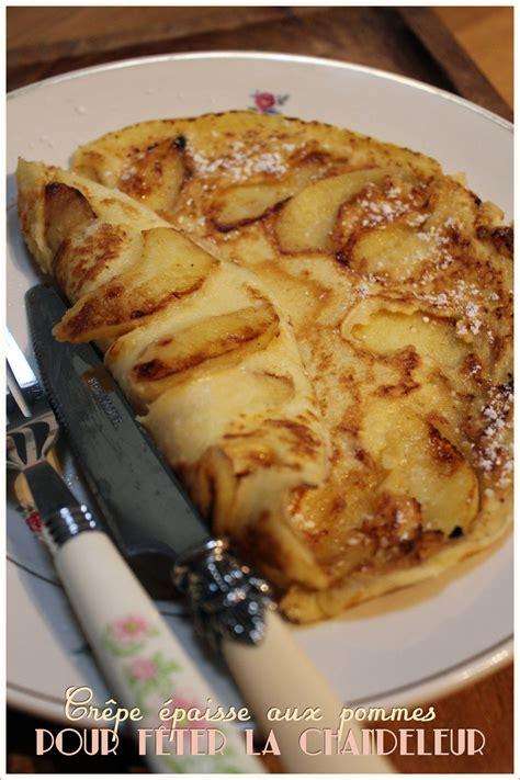 cuisine de laurent mariotte crêpe épaisse aux pommes pour la chandeleur recette de