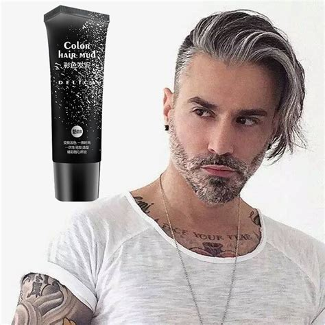 50ml Silver Gray Disposable Hair Color Gel 6 Colors Hair