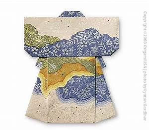 Free Coloring Pages  Instructions For Origami Kimono