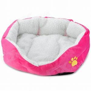 soft plush pet dog bed house deep pink free shipping With plush dog house bed