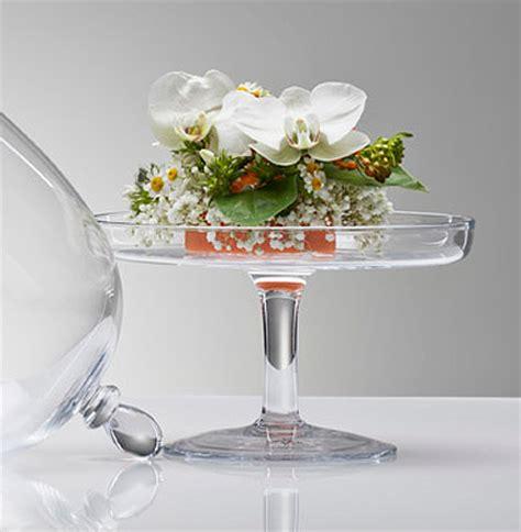 le plateau en verre sur pied avec cloche d 233 coration de table mariage mariage