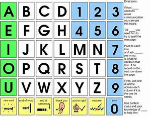 aeiou alphabet board special needs aac pinterest With alphabet letter board
