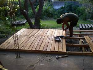 Deck de madera reciclada hecho con pallets Hazlo tu mismo Taringa!