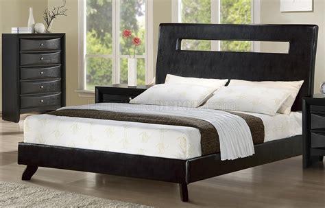 rich ebony finish modern bedroom wlow profile bed