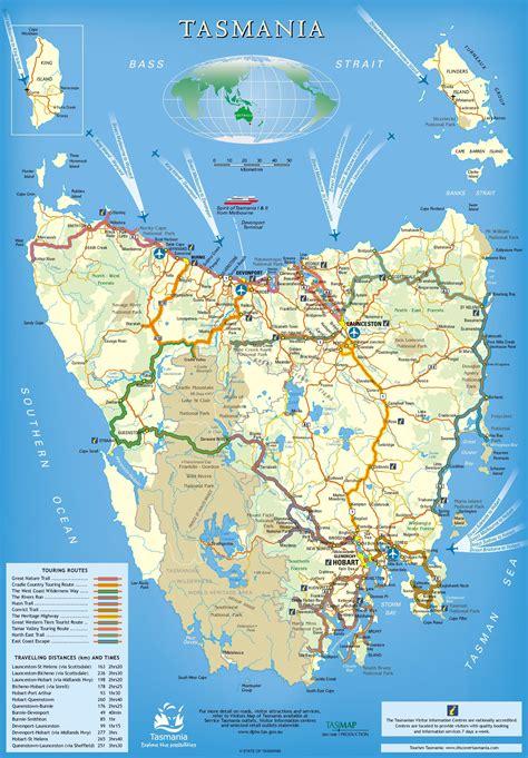 tasmania trails map