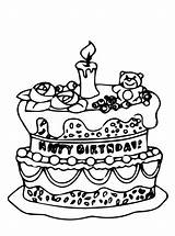 Birthday Coloring Cakes Fun Cake Votes sketch template
