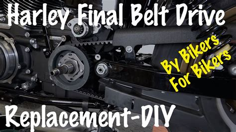How To Remove & Replace Final Belt Drive On Harley