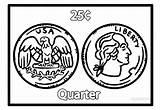 Coloring Money Printable Kindergarten Coins Coin Cool2bkids Geld Template Malvorlagen Ausmalbilder sketch template