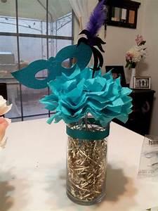 masquerade centerpiece sweet 16 masquerade