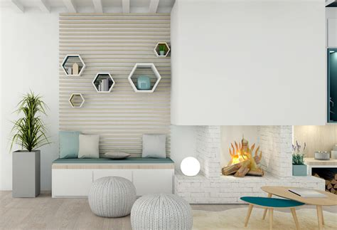 decoration salon blanc bois