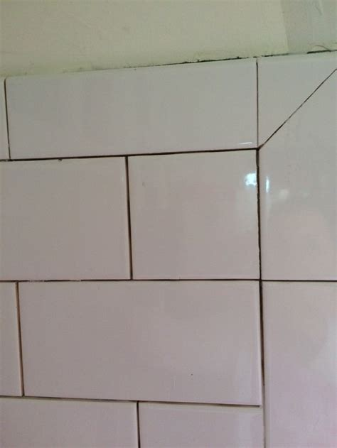 tiling inside corners with subway tile bullnose corners subway tile