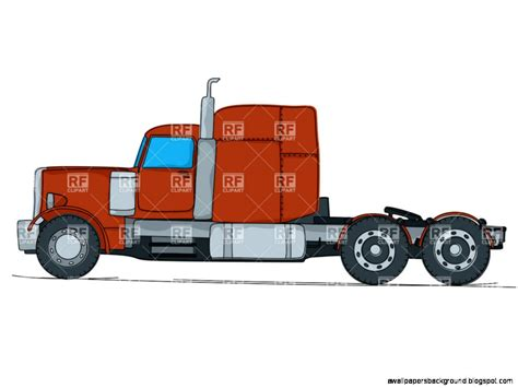 Semi Truck Clipart Semi Truck Side View Drawing Wallpapers Background