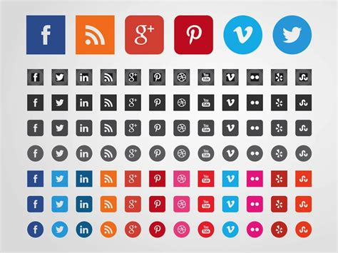 Social Media Icons Vector 15 Social Media Vector Images Free Social Media Icon Set