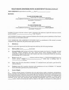 international television distribution agreement legal With international distribution agreement template