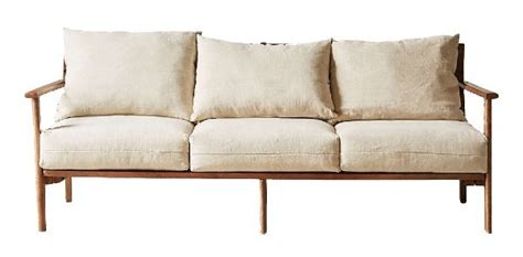 relaxed mid century modern sofa reventals austin tx