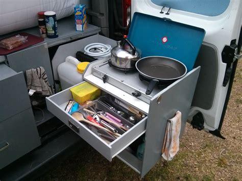 cuisine pour cing car tiroir à couverts cuisine trafic aménagé fourgon