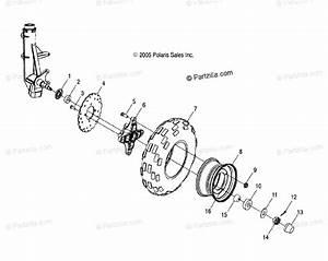 Polaris Atv 2005 Oem Parts Diagram For Front Wheel   Ab  Ac