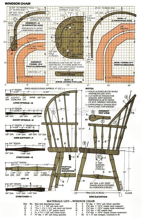 classis windsor chair plans woodarchivist