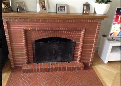 relooking chambre cheminée en briques
