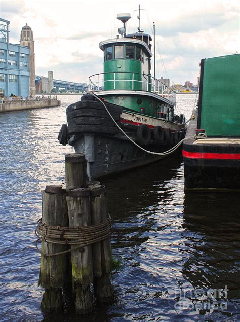 Old Boat In Philadelphia by Philadelphia Tug Boat Penns Landing Photograph By