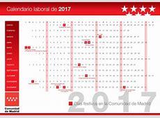 CALENDARIO LABORAL COMUNIDAD DE MADRID 2017 ÁREA LABORAL