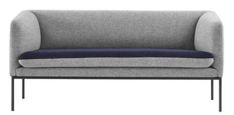 canap 233 droit turn l 160 cm 2 places gris clair bleu