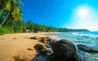 tropical beach  sri lanka bay  island curieuse sunset