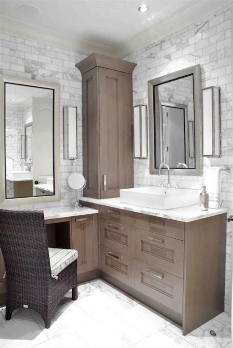 design galleria custom sink vanity built  corner