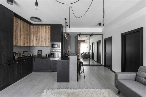 Small Modern Industrial Apartment by Small Industrial Apartment In Lithuania Gets An Inspiring