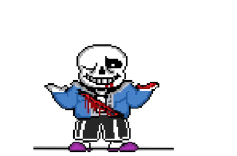 Sans Bleeding Sprite With Colouring And Shading By