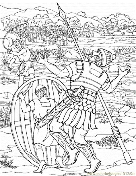 david  goliath  coloring page  religions coloring pages coloringpagescom